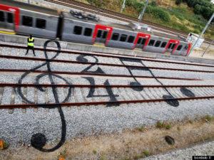 Bordalo makes Train Tracks sheet music