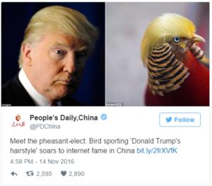Donald Trump Pheasant